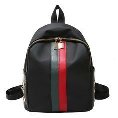 dd3e4383d93 Leather Backpack Travel School Fashion Gucci Stripe Style Designer Bag  Inspired - Travel Backpack  travel