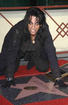 Alice Cooper~ Receives a Star, on the Hollywood Walk Of Fame...God knows he deserves it....LOVE ALICE!!!!