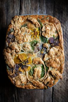 Garden pie - leek and potato - twigg studios Garden pie - leek and potato Wild Garlic, Potato Pie, Creamy Cheese, Edible Flowers, Rice Dishes, A Food, Food Art, Food Inspiration, Food Processor Recipes