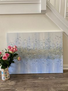 Silver Sparkling Acrylic BLUE ICECREAM acrylic | Etsy Black Canvas Paintings, Glitter Wall Art, Crushed Glass, Large Canvas, Acrylic Art, Beautiful Paintings, Silver Glitter, Artist At Work, Different Colors