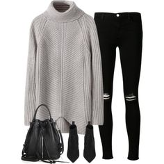 Untitled#2822 by fashionnfacts on Polyvore featuring J Brand, Yves Saint Laurent and Rebecca Minkoff
