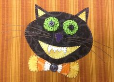 Scaredy Cat  Applique PDF Pattern for Tea by quiltdoodledesigns
