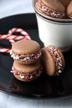 Sweet Boake   Baking Blog : Chocolate Peppermint Macarons Recipe - tasty treat
