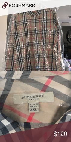 Men's XXL Burberry Dress Shirt Excellent condition, worn twice. Just got it dry cleaned. Burberry Shirts Dress Shirts