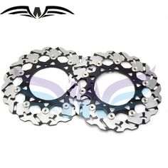 236.99$  Buy here - http://alifei.worldwells.pw/go.php?t=32498793239 - Motorcycle Front Brake Disc Brake Rotors For YAMAHA YZF R1 2004 2005 2006 motorcycle front brake 236.99$