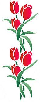 Tulpaner 2 • stencil till design • återanvändbara schablon