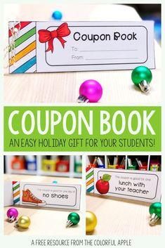 Student Gifts, Teacher Gifts, Teacher Stuff, Presents For Students, Classroom Activities, Classroom Ideas, Holiday Activities, Future Classroom, Teacher Freebies