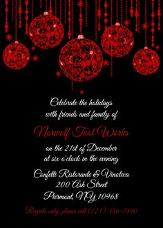 The Gallery For Office Christmas Party Invitation Wording RSCF - Party invitation template: company holiday party invitation template