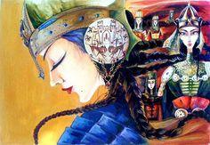 Это самаркандская легенда о Кырк Кыз. Отряде смелых воительниц и их предводительнице Гаухар (иногда ее называют Гулаим).  Circassian Amazons. Uzbek woman. The Uzbek Amazons. Amazons.
