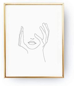 dayanzai Sketch Wall Art Line Drawing Print Minimalist Simple Fashion Canvas Poster Black White Painting Love Wall Picture Decor cm(No Frame) White Canvas Art, Black And White Canvas, Black And White Lines, Black And White Painting, Diy Canvas Art, White Art, Gold Drawing, Line Drawing, Drawing Stuff