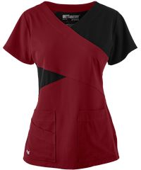 Grey's+Anatomy+Scrubs+Signature+STRETCH+Color+Block+Top