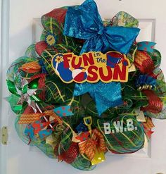Hey, I found this really awesome Etsy listing at https://www.etsy.com/listing/232590738/fun-in-the-sun-wreath