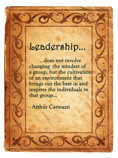 Leadership (perfect example of nature vs. Nurture theory)