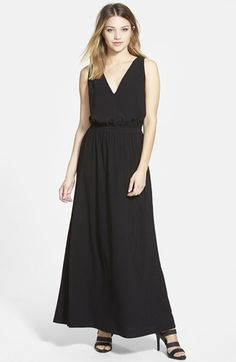 Leith Deep V-Neck Maxi Dress available at #Nordstrom