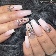 Not the rhinestones, just natural pink and white