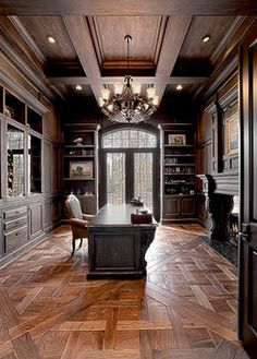 french contemporary traditional home office