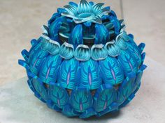 Polymer Clay Vessel  Dont Call Me Blue  by WyndsongDesigns, by Karin Sullivan