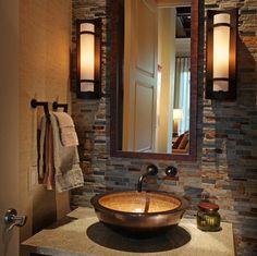 Portentous Useful Ideas: Bathroom Remodel Gray Small bathroom remodel neutral interior design.Cheap Bathroom Remodel Floor half bathroom remodel the doors. Bathroom Renos, Small Bathroom, Bathroom Ideas, Bathroom Designs, Stone Bathroom, Master Bathroom, Bathroom Vanities, Bathroom Remodeling, Remodeling Ideas