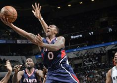 Jeff Teague hit a three to tie the game at 100 with five seconds left to play. His 19 points led the Hawks in scoring.