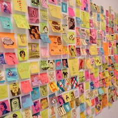 post-it art first day activity