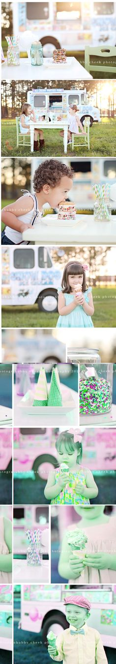 Ice cream minis - If you can find me an Ice-Cream Truck, We could make this happen! What a cute Mini-Session Idea!  chubby cheek photography #photogpinspiration