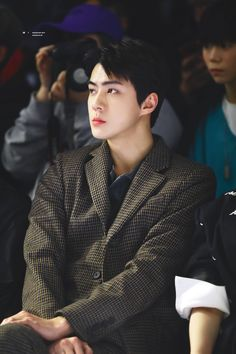 190324 at seoul fashion week Sehun, Exo K, Exo Lucky, Baby Park, Kim Minseok, Xiuchen, Exo Members, Future Husband, Memes