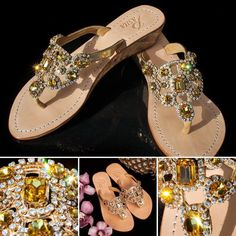 d93cf386c8daf Beautifully boxed for gift giving! Pasha ST. LUCIA crystal jeweled leather  sandals