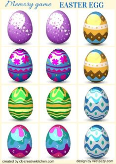 EASTER EGG - #MEMORY #GAME FREE PRINTABLES