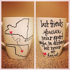 best friend mugs! We need this because I'm in Indy you in Bama