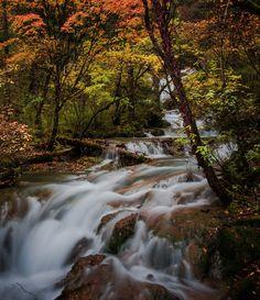 Waterfalls in Autumn by David Dai
