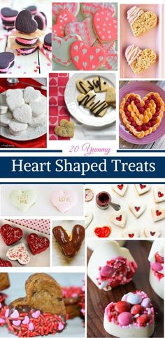 20 Yummy Heart Shaped Treats by Happy Family Blog.  Perfect for Valentine's Day or an afternoon snack.
