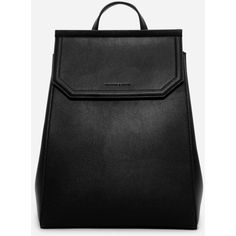 Charles & Keith HEXAGON FRONT-FLAP BACKPACK ($49) ❤ liked on Polyvore featuring bags, backpacks, rucksack bags, day pack backpack, pu bag, backpack bags and charles keith bag