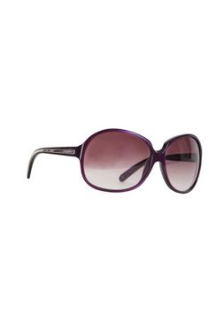 Brand: Prada  Style: Prada 21I 7WO-4V1  Color: Purple/plum  Measurements: size 64mm  Material: Plastic  Lens: gradient  Protection: 100% UV  Origin: Italy  Includes: Original case and cleansing cloth  Condition: Excellent     PRADA embossed on the silver part of both arms        Retail: $245 +tax     Glamdrobe: $125