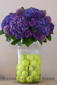 Arrangement for a Wimbledon party- designed by Dundee Butcher