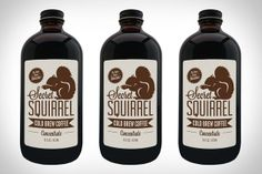 Secret Squirrel Cold Brew Coffee. Love the packaging.