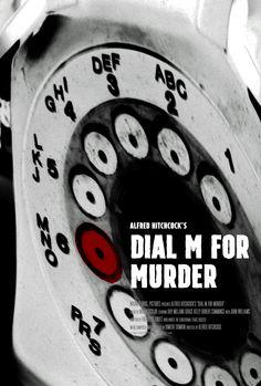 Poster for Dial M for Murder by Scott Saslow. #dialmformurder #alfredhitchcock #raymilland #gracekelly #classicfilm #mystery #murdermystery #detective #stageplay #3d #1950s #movieposter #graphicdesign #posterdesign #fanart #alternativefilmposter #alternativemovieposter