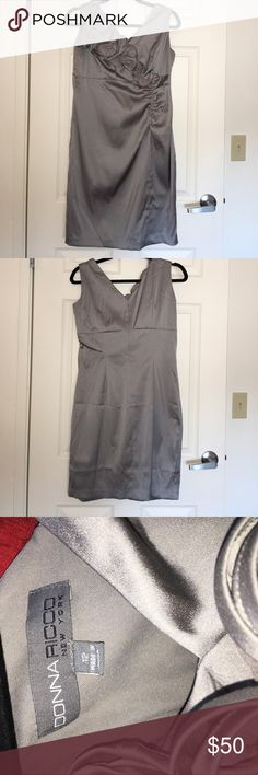 Selling this Donna RIcco gray dress. Size 12 on Poshmark! My username is: amandaadams16. #shopmycloset #poshmark #fashion #shopping #style #forsale #Donna Ricco #Dresses & Skirts