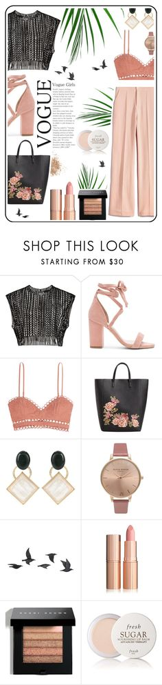 """Untitled #348"" by polyv0r3 ❤ liked on Polyvore featuring Raye, Zimmermann, MANGO, Marni, Olivia Burton, Jayson Home, Bobbi Brown Cosmetics, Fresh and Topshop"