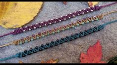 Macrame Tutorial-Easy Beaded Zig Zag Double Half Hitch Bracelet                                                                                                                                                                                 More