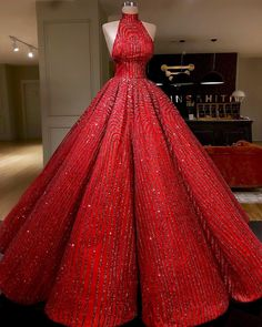 Ball Gown High neckline Prom Dress With Beads Floor-Length Sequins Quinceanera Dress Sweet 16 Dresses for Girls
