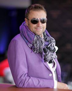 Catalin Botezatu Mans World, Gentleman, Celebrity Style, Fashion Accessories, Menswear, Purple, Romania, Celebrities, Hair Styles