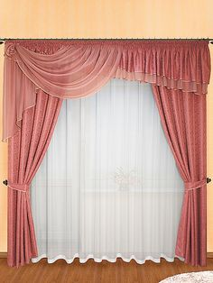 Яркие шторы из вуали Types Of Curtains, Sheer Curtains, Drapes Curtains, Valance, Drapery Styles, Curtain Styles, Curtain Designs, Diy Cushion, Window Dressings