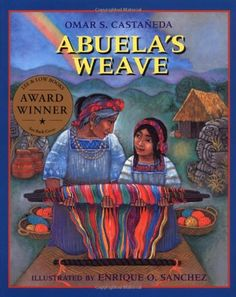 Abuela's Weave, by Omar S. Castaneda, tells the story of a Guatemalan girl named Esperanza who is learning to weave with her grandmother. The two journey to the market to sell their weavings. Esperanza gets separated from her grandmother and must sell their work alone. Although the market is full of beautiful, machine-made products, everyone loves Esperanza's wares best of all! This book shares about Guatemalan culture and art in a unique way.