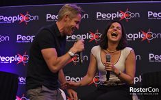 Lana and Sean at Paris Con 2019 Once Upon A Time Funny, Once Up A Time, Robin And Regina, Sean Maguire, Ouat Cast, Outlaw Queen, Chapter 3, Happy Endings, Best Couple