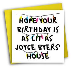 Stranger Things Card/Funny Birthday Card/Joyce Byers by PackAPunchDesigns on Etsy