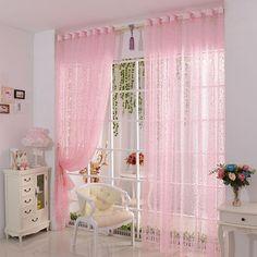 Amazon.de: Vorhang DDLBiz® Druck-Blumen-Voile-Tür-Vorhang Fenster Paravent Schal…
