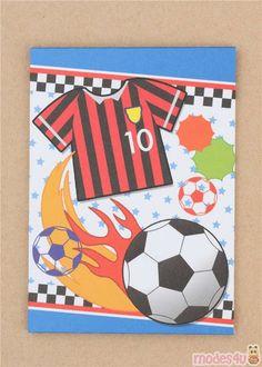 kawaii mini envelope with football soccer sport pocket Small Envelopes, Paper Envelopes, Football Soccer, Soccer Ball, Japanese Stationery, Letter Set, Cute Designs, Notebook, Super Cute