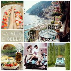La vita è bella. #moodboard #mosaic #collage #inspirationboard #byJeetje♡