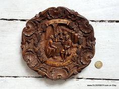 IN VINO VERITAS wooden resin carved plate 3D Rudesheim от OlderBoy