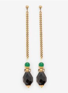 Ela StoneStone chain earrings